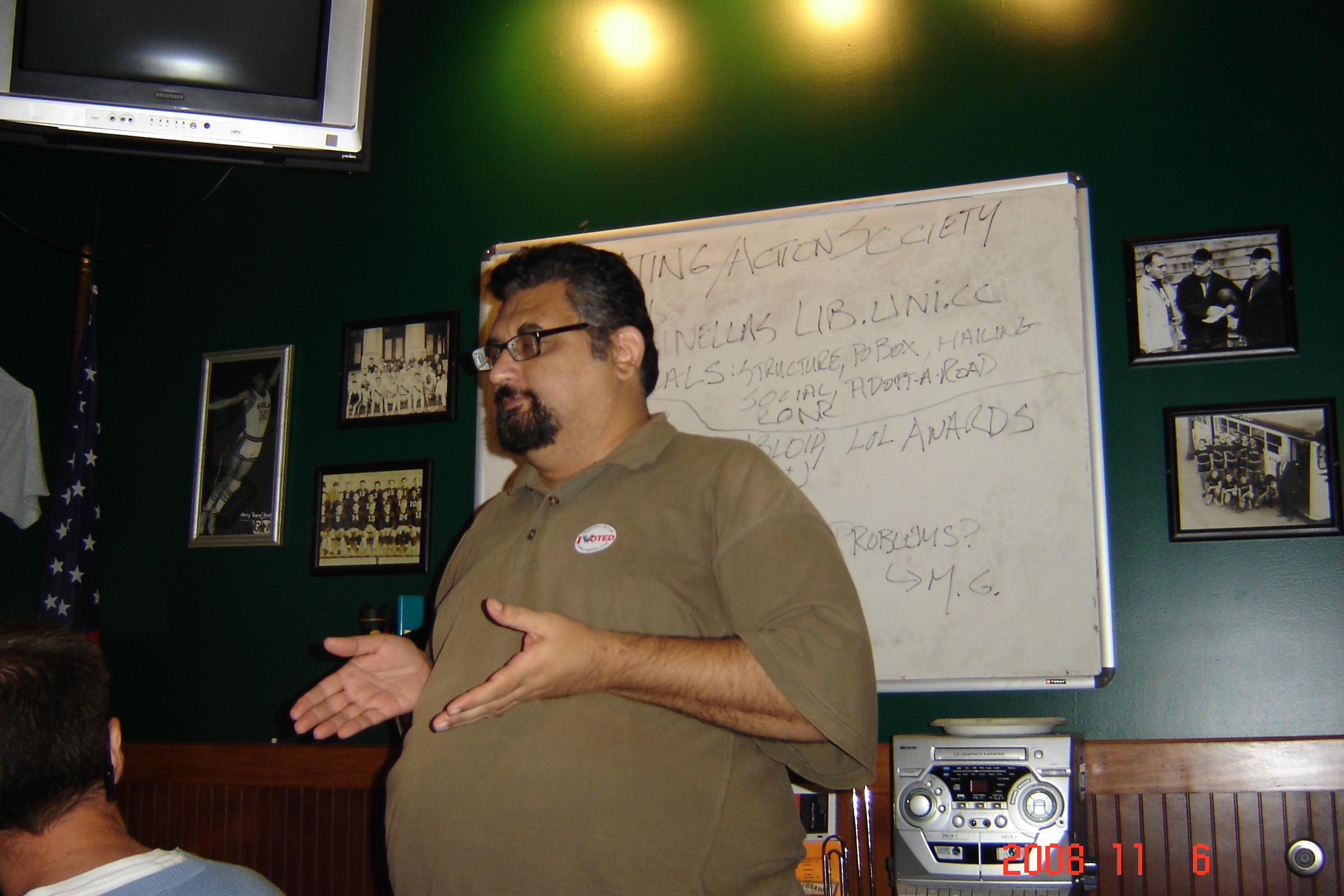 MG gives Lib Tips to Pasco Libertarians